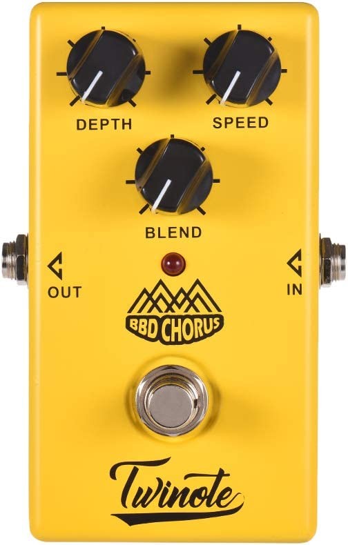 Twinote BBD CHORUS Analog Chorus Guitar Effect Pedal Processsor Full Metal Shell with True Bypass