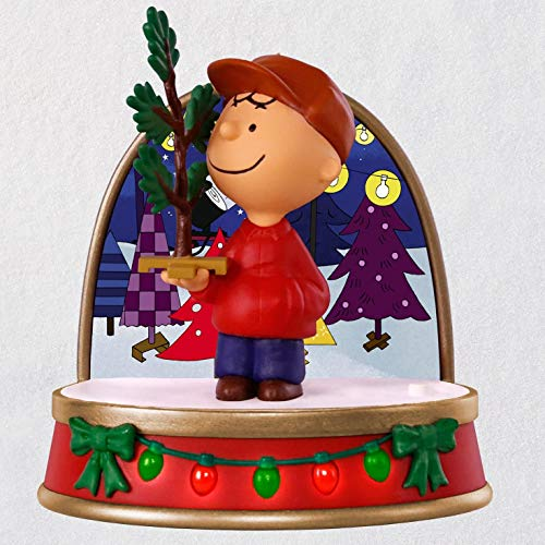 (Hallmark Keepsake Christmas Ornament 2018 Year Dated, Peanuts A Charlie Brown Christmas Tree Charlie Brown With Sound and)