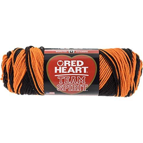 Red Heart  Team Spirit Yarn, Orange/Black