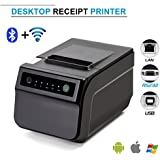 Bluetooth Wifi Thermal Printer, Symcode with Cutter, Bluetooth, Android/Windows, IOS, External Power Supply, Auto Connect On Black