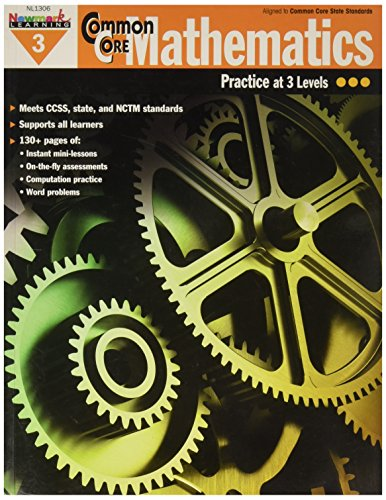 Newmark Learning Common Core Mathematics Reproducible Book, Grade 3