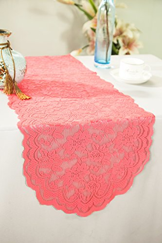 Wedding Linens Inc. Wholesale 13.5 in x108 in Lace Table Runner Wedding Table Runner for Wedding Décor Events Banquet Party Supplies - -