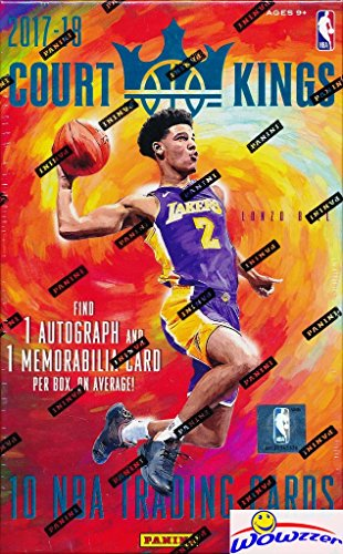 2017/18 Panini Court Kings NBA Basketball Factory Sealed HOBBY Box with AUTOGRAPH, MEMORABLIA & (2) ROOKIE Cards! Look for Rookies & Autographs of Lonzo Ball, Jayson Tatum,Kyle Kuzma & More! (Nba Trading Cards Box)