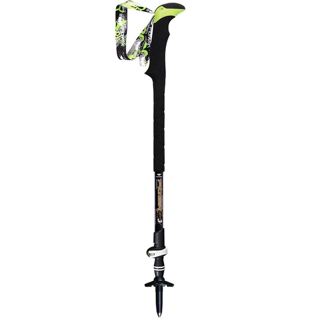 Mifusanahorn Alpenstocks mit hoher Härte sperren leichte einziehbare wandernde Kohlefaser-DREI Stöcke für Sport im Freien