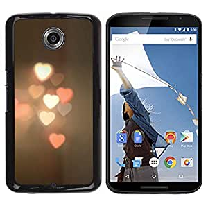 Be Good Phone Accessory // Dura Cáscara cubierta Protectora Caso Carcasa Funda de Protección para Motorola NEXUS 6 / X / Moto X Pro // Blurry Lights Street City Pastel