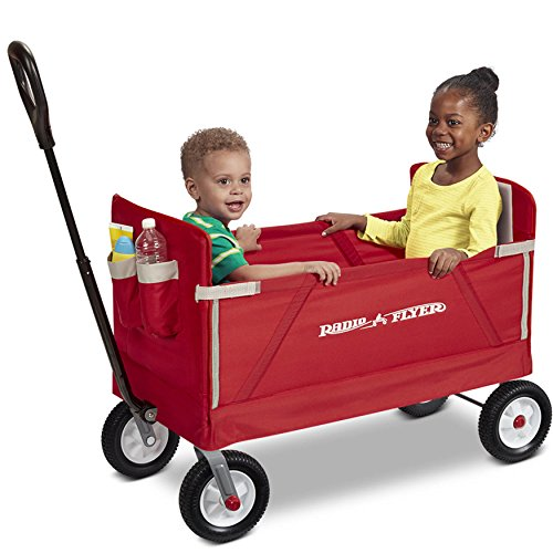 3-In-1 All-Terrain Foldable kids Toy Red Wagon