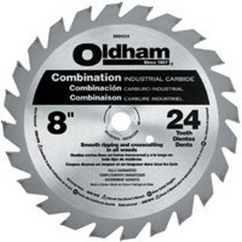 Oldham B8004524 8-Inch 24T Carbide Saw Blade Combination