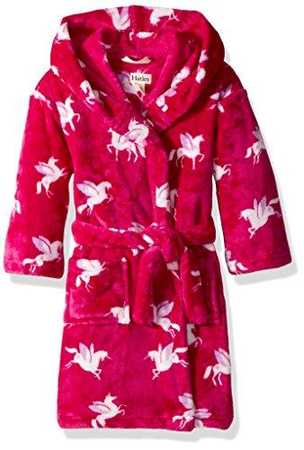 Hatley Girls' Little Fuzzy Fleece Robes, Winged Unicorns, Small (Winged Unicorns)