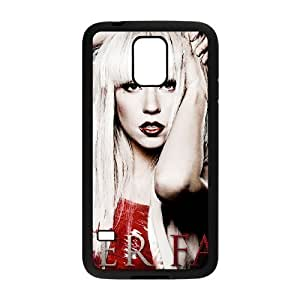 C-EUR Customized Print Lady Gaga Hard Skin Case Compatible For Samsung Galaxy S5 I9600