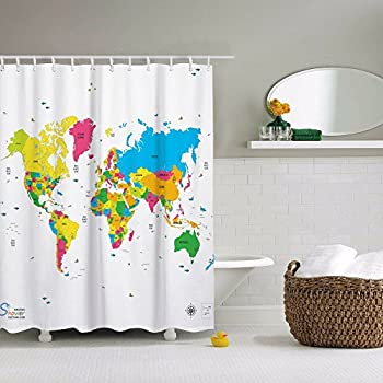 Amazon.com: Educational Shower Curtain - Multiplication Facts: Home ...