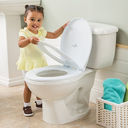 Summer Infant 2-in-1 Toilet Trainer (Oval) - Potty Training Seat - Toddler & Adult Space-Saving Potty Topper