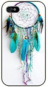 Dreamcatcher, love blue - iPhone 4 / 4s black plastic case / Inspiration