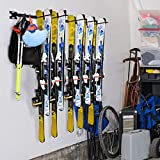 Sunix Ski Storage Rack, Snowboard Wall Rack for Home& Garage Organization Mount Hold up 10 Pairs, 2 Pack