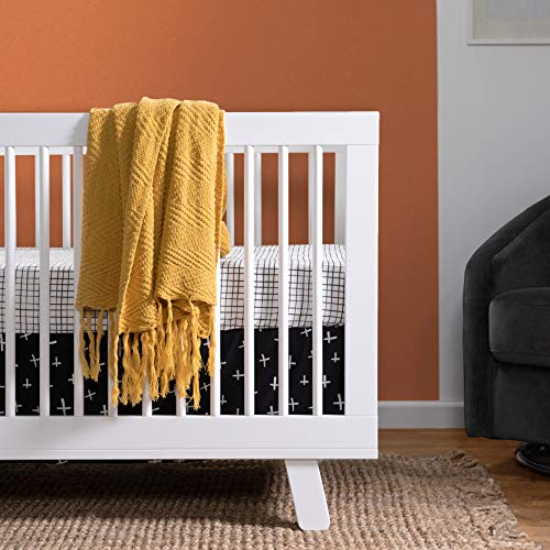 51hPS8je6gL - Babyletto Hudson 3-in-1 Convertible Crib With Toddler Bed Conversion Kit In White, Greenguard Gold Certified