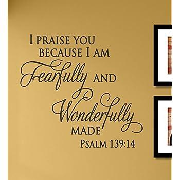 Amazon.com: I Am Fearfully And Wonderfully Made Psalm 139:14 wall ...