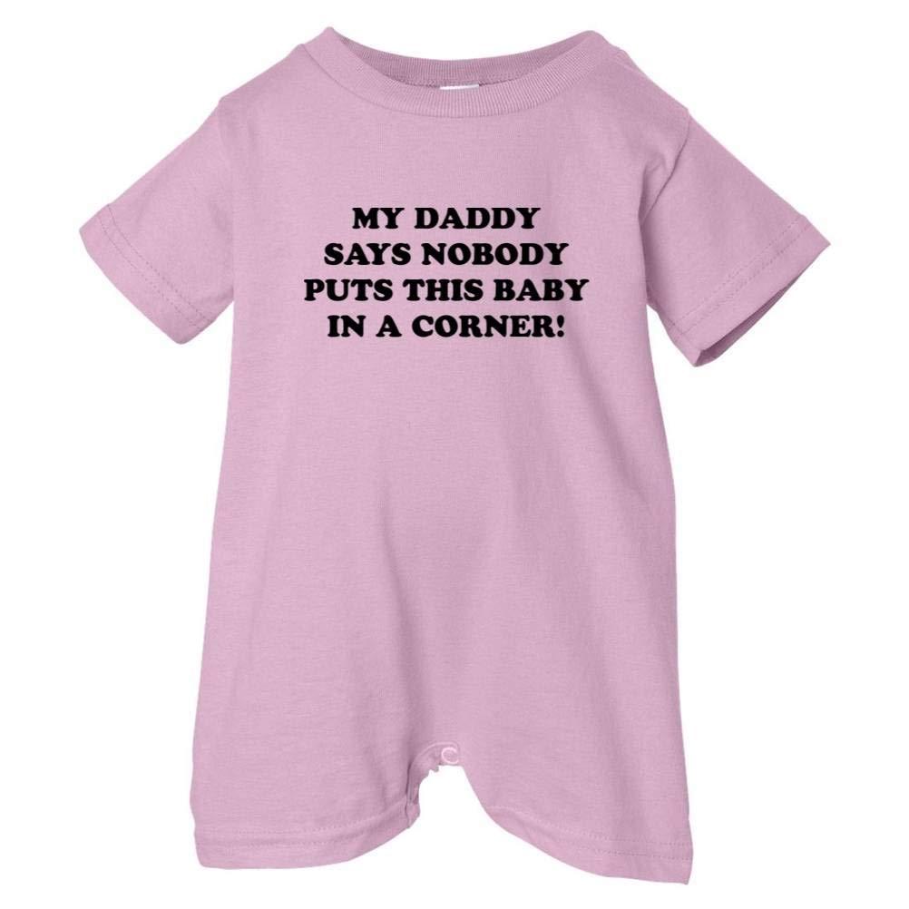 So Relative Unisex Baby Daddy Says Baby No Corner T-Shirt Romper