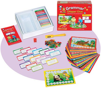 Grammar Activities - Grammar Chipper Chat Magnetic Game - Super Duper Educational Learning Toy for Kids