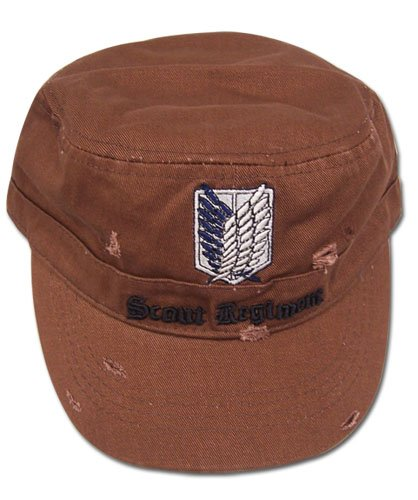 Great Eastern Entertainment Attack On Titan Scout Regiment Cap, Brown