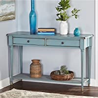 Simple Living Emilia Blue Wood/MDF Sofa Table