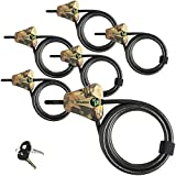 Master Lock Python Trail Camera Adjustable Camouflage Cable Locks 8418KA-6 CAMO 6-Pack