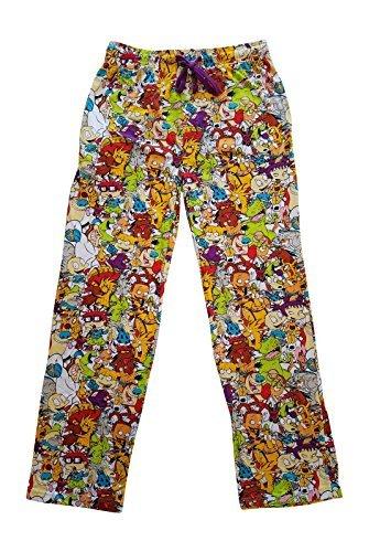 Nickelodeon Character Graphic Mens Sleep Lounge Pants (Medium (32-34)) ()