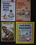 Amelia Bedelia: Set of 4 Books (Teach Us, Amelia Bedelia ~ Amelia Bedelia's Family Album ~ Amelia Bedelia, Rocket Scientist? ~ Dinosaur Time)