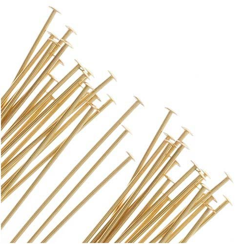 UnCommon Artistry 14K Gold Filled Head Pins 24 Ga. 1.5 Inch (10) ()