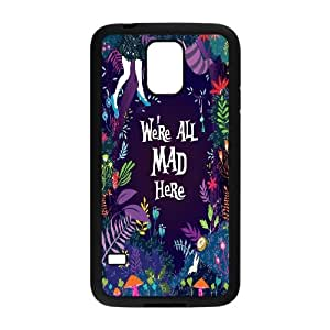 LSQDIY(R) We are all mad here SamSung Galaxy S5 I9600 Custom Case, High-quality SamSung Galaxy S5 I9600 Case We are all mad here