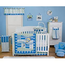 Trend Lab Dr. Seuss Oh, the Places You'll Go! 6-Piece Crib Bedding Set - Blue
