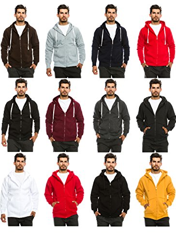 JC DISTRO Mens Hipster Hip Hop Basic Unisex Zip Up Hoodie Jacket (Size Upto 5XL Big Size)