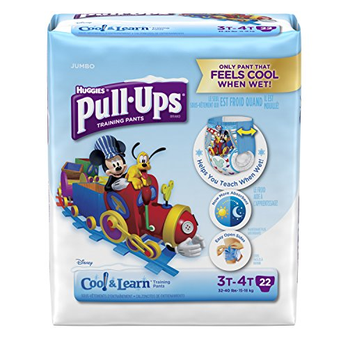 Pull-Ups Cool and Learn Training Pants for Boys, 3T-4T, 22 Count (Pack of 4) by Pull-Ups