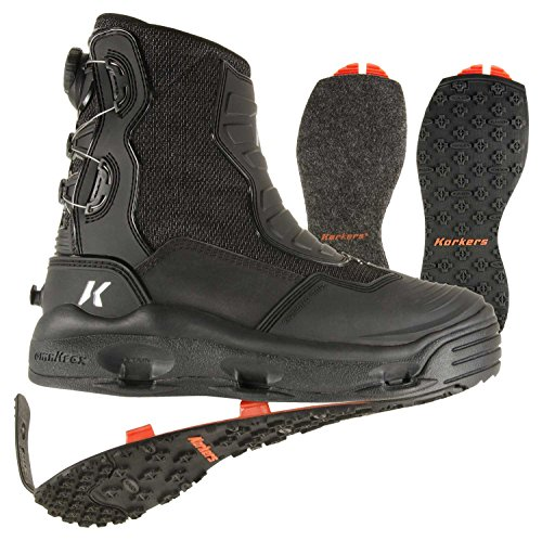 Korkers HatchBack Wading Boot w/ both Felt & Kling-On - System Hatchback