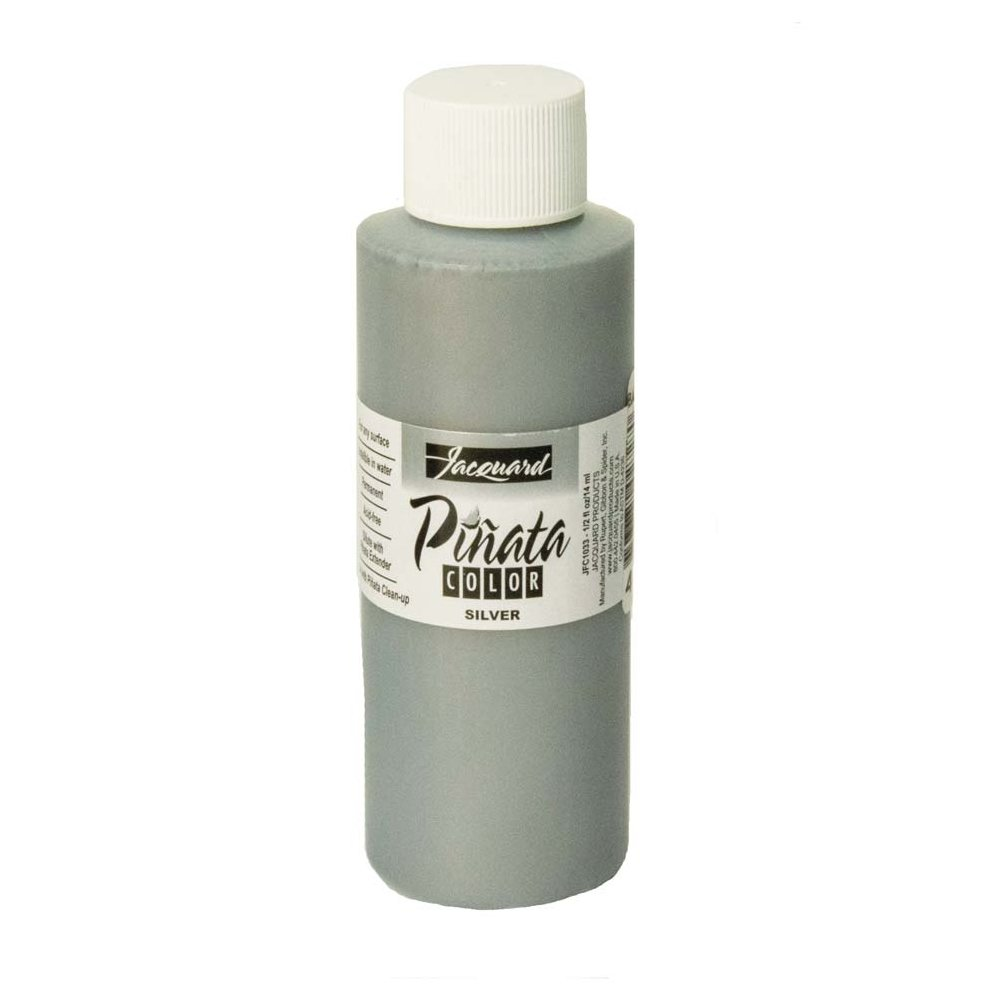 Pinata Silver Alcohol Ink that by Jacquard, Professional and Versatile Ink that Produces Color-Saturated and Acid-Free Results, 4 Fluid Ounces, Made in the USA