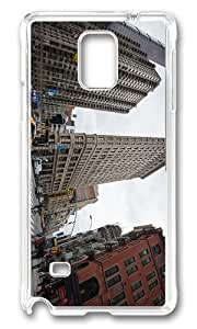 MOKSHOP Adorable 5th avenue and broadway New York City Hard Case Protective Shell Cell Phone Cover For Samsung Galaxy Note 4 - PC Transparent