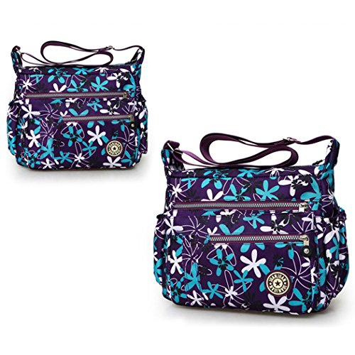 Ladies purple New Shoulder Bag deep Women Tote Handbag Bag Hobo Delaisus Messenger Crossbody 4pAqgS