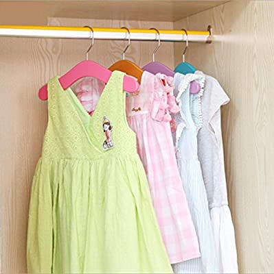 WWZY Children's hangers Solid wood Non-slip Sturdy Durable Children's clothing store Baby Drying Racks Hanger/ pack of 20
