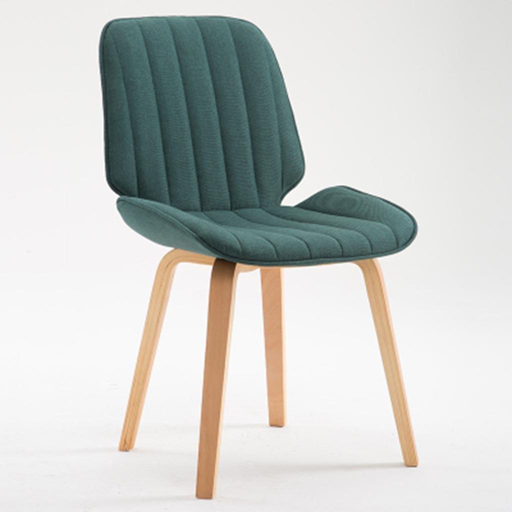 HETAO創造的な背もたれの椅子木製のダイニングチェアコンピュータチェアラウンジチェア、バーの家のための、40 * 40 * 44センチメートル , dark green cotton B07817121W dark green cotton dark green cotton
