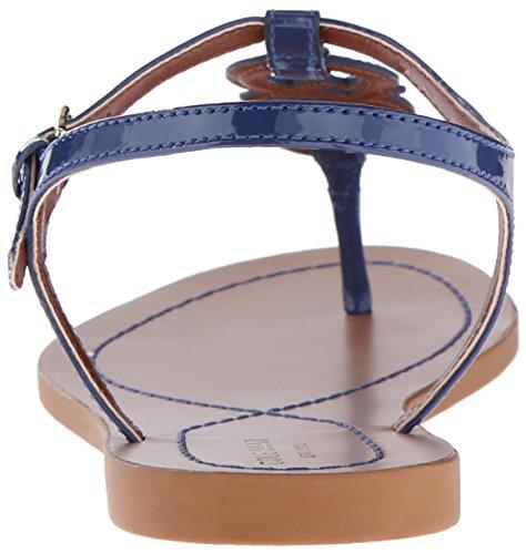 Cole Haan Womens Iris Flat Sandal Twilight Blue Patent