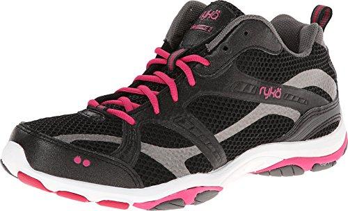 RYKA Women's Enhance 2 Cross-Training Shoe, Black/Zumba Pink/Metallic Steel Grey, 7 M US