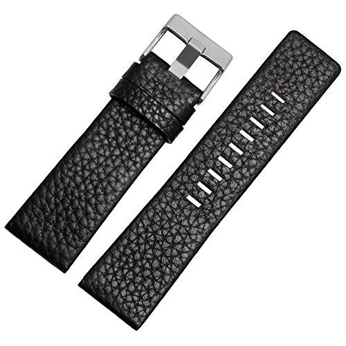 Choco&Man US Men's Genuine Diesel Calfskin Leather Watch Band for Men's Diesel Watches (Diesel Mens Strap)