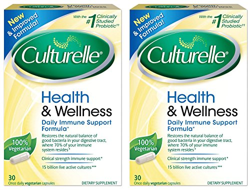 Culturelle Health and Wellness QEQPc Supplement Probiotic, 30 Capsules (2 Pack) hzolT Culturelle Probiotic Dietary Supplement Capsules