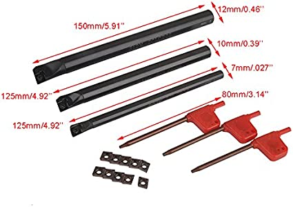 Indexable Lathe Boring Bar /Ø 12 mm SCLCR 06 With 5 Nos CCMT 060204 Carbide Inserts /& Torx Key