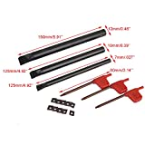 SCLCR Lathe Boring Internal Turning Bar Holder + 10 Pcs CCMT0602 Insert + 3 Pcs Wrench