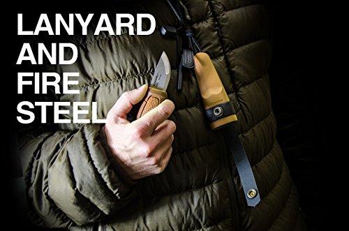 Morakniv Eldris Fixed-Blade Pocket-Sized Knife with Sandvik Stainless Steel Blade, Lanyard and Firestarter, Yellow, 2.2 Inch by Morakniv (Image #3)