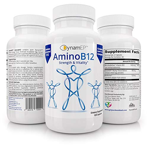 AminoB12 for Vitality: Reduces Stress and Anxiety, Improves Brain Health, Regulates Cells & Immunity. from Get Your Boom Back
