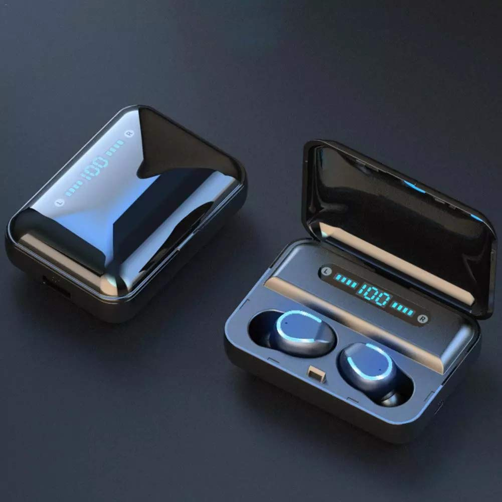 Bluetooth 5.0 Wireless Earbuds with 2000mAh Charging Case LED Battery Display 90H Playtime in-Ear Bluetooth Headset IPX7 Waterproof True Wireless Earbuds for Work Sports