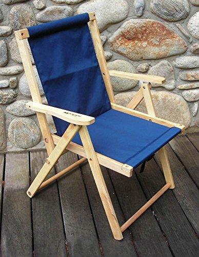 Blue Ridge Trading Highlands Folding Deck Chair in Navy
