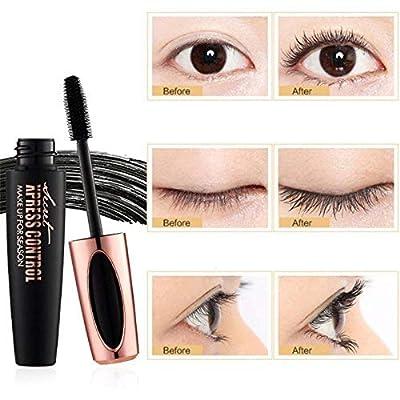 4D Silk Fiber Eyelash Mascara, Extra Long Lash Mascara and Thick, Long Lasting, Waterproof & Smudge-Proof, All Day Exquisitely Lush, Full, Long, Thick, Smudge-Proof Eyelashes - 2Pcs