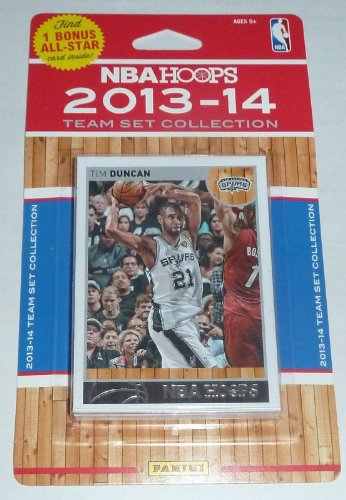 fan products of San Antonio Spurs Brand New 2013 2014 Hoops Basketball Factory Sealed 10 Card NBA Licensed Team Set NBA Champions!