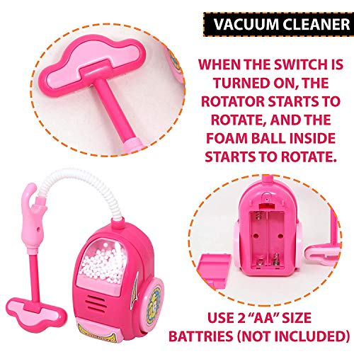 urban festivities battery operated 6 pieces household home appliances play set toys for girls with realistic sound - fan,hair dryer,vacuum cleaner,sewing machine,iron,washing machine-Pink 51hPWpILTCL India 2021
